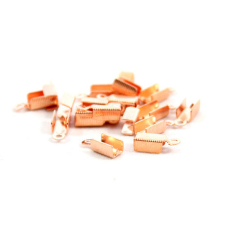 Box Clasp Cord End (13x5mm) - Rose Gold Plated