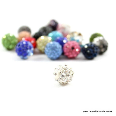 Crystal Clay Beads - Clear Crystal
