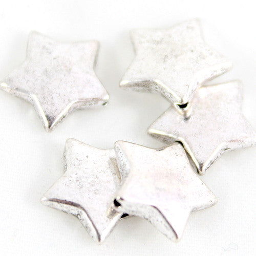 Star Beads 15mm - Silver