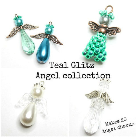 Angel Collection - Teal Glitz
