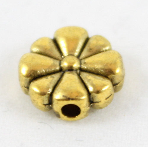 Tibetan Style Flower Beads - Gold