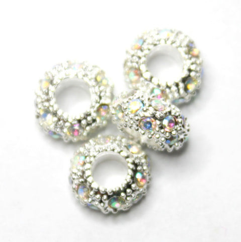 Diamante Large Holed Bead - Crystal AB