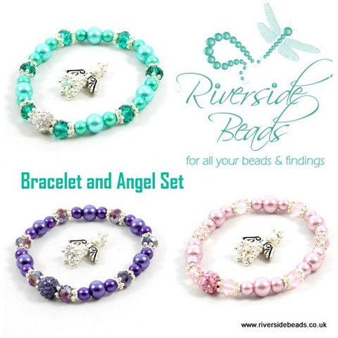 Sparkle Spacers Kit – Bracelet and Angel Set – Various Colours