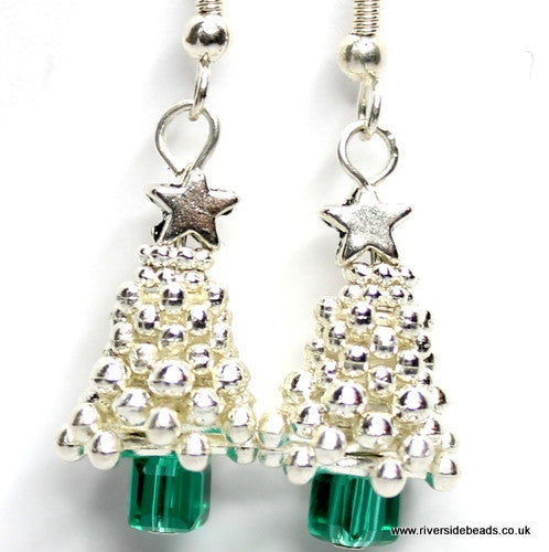 Sparkle Spacer Tree Earrings – Silver