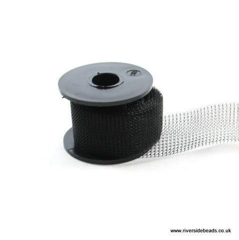 Knitted Mesh Tube Wire 15mm - Black