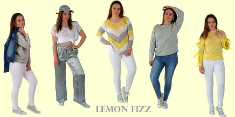 A picture of our new spring capsule Lemon Fizz