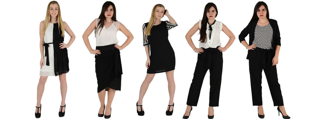 Mono chic. Black & White formal pieces