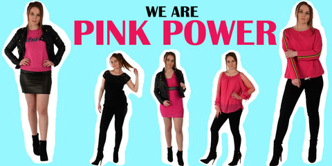 A hero banner of our Pink Power Capsule with 8 items to create 5 looks around Black and Hot Pink