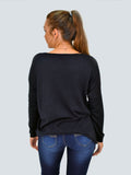 Navy Daisy Diamante Front Jumper - Capsuleight