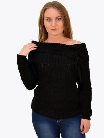 Black Chunky Knitted Jumper - Capsuleight
