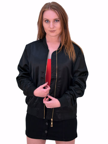 Black Bomber Jacket - Capsuleight