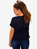 Print 98 Stella Morgan Navy T- shirt - Capsuleight