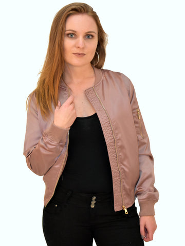 Satin Rose Bomber Jacket - Capsuleight
