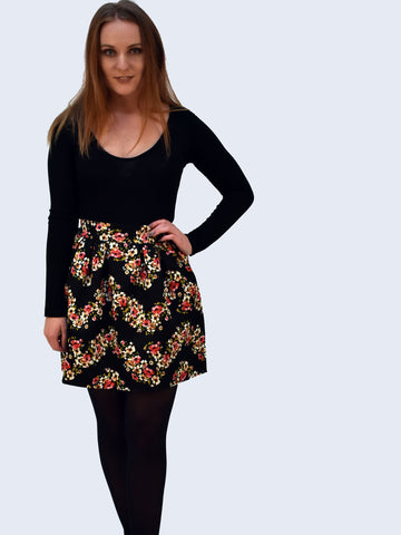 Floral Jacquard Skirt - Capsuleight