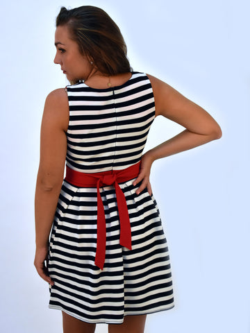 Stripe Blue Dress - Capsuleight