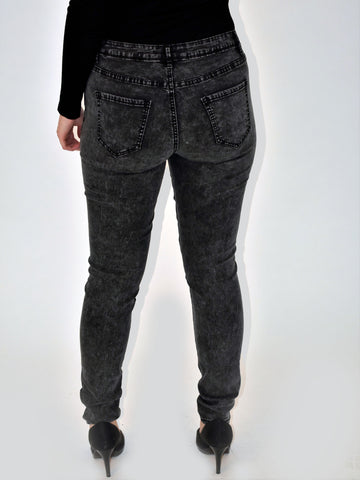 a picture of our grey skinny jeans from the back