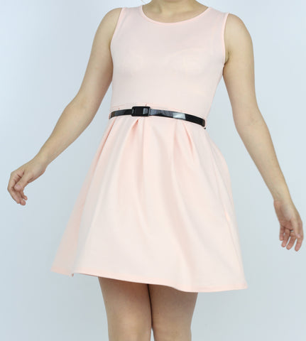 £10 Pink Pleated Skater Dress
