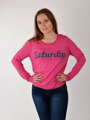 Hot Pink Saturday Jumper - Capsuleight