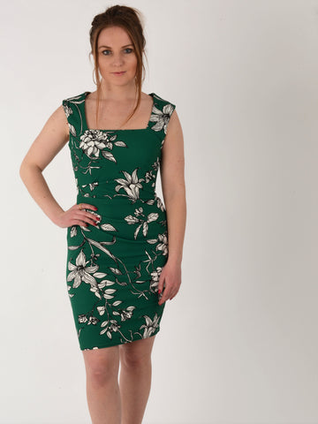 Green Floral Dress - Capsuleight