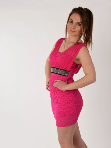Pink Lace Dress - Capsuleight