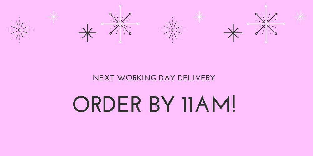 Free UK standard Delivery for March and a special offer of £4.95 for our next day service order by 1PM