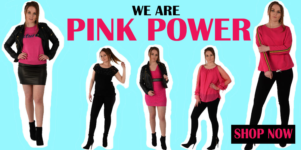 our Hero Banner of our newest Capsule Pink Power