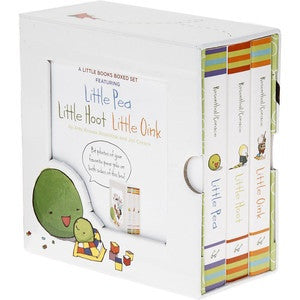 A Little Books Boxed Set with Little Pea, Little Hoot, and Little Oink