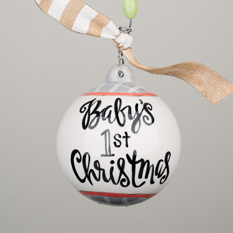 baby girls first christmas ball ornament