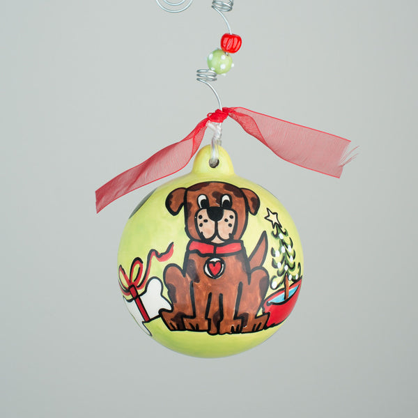 Dog Lover's Ball Ornament