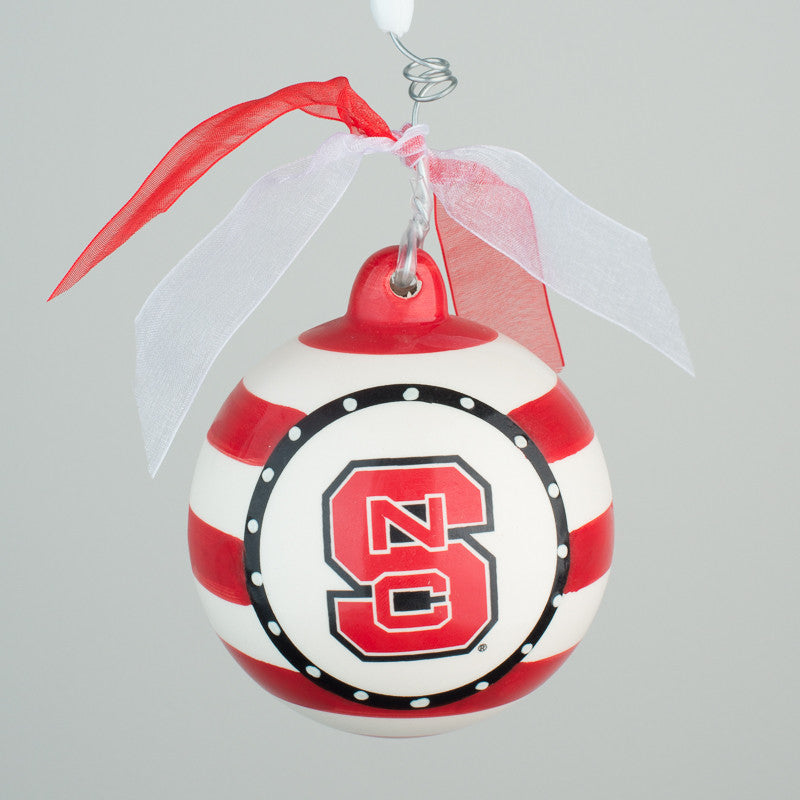 NC State Ball Ornament