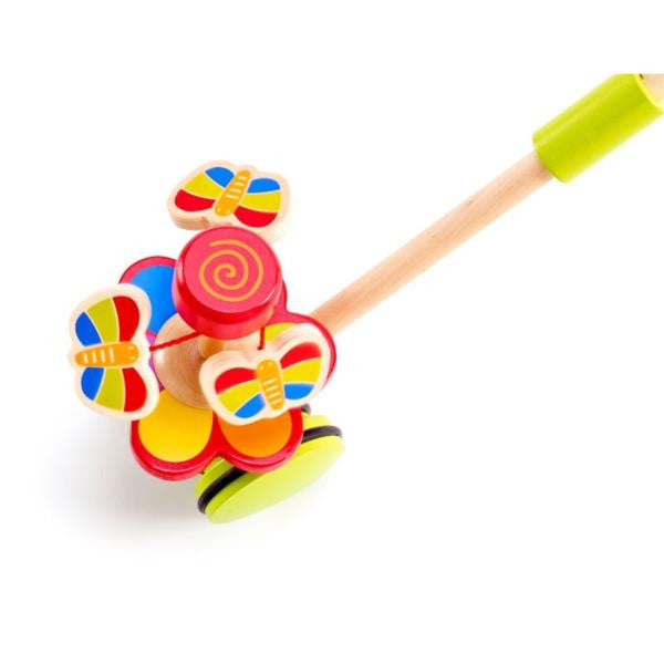Dancing Butterflies Wooden Push and Pull Toy