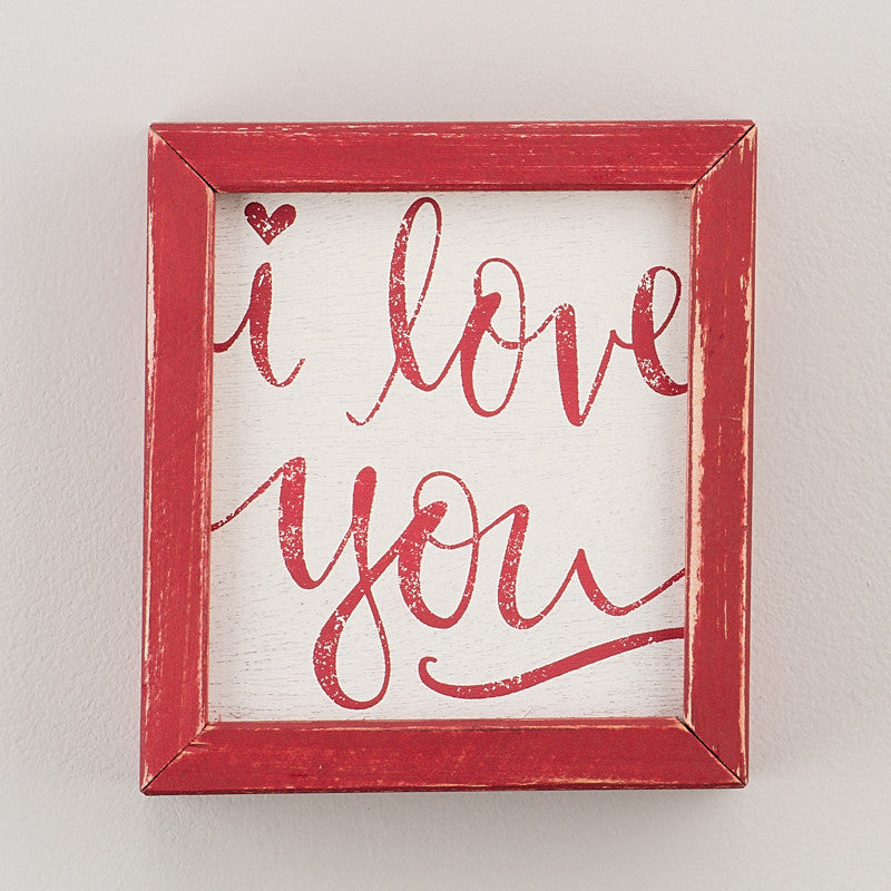 I Love You Framed Board