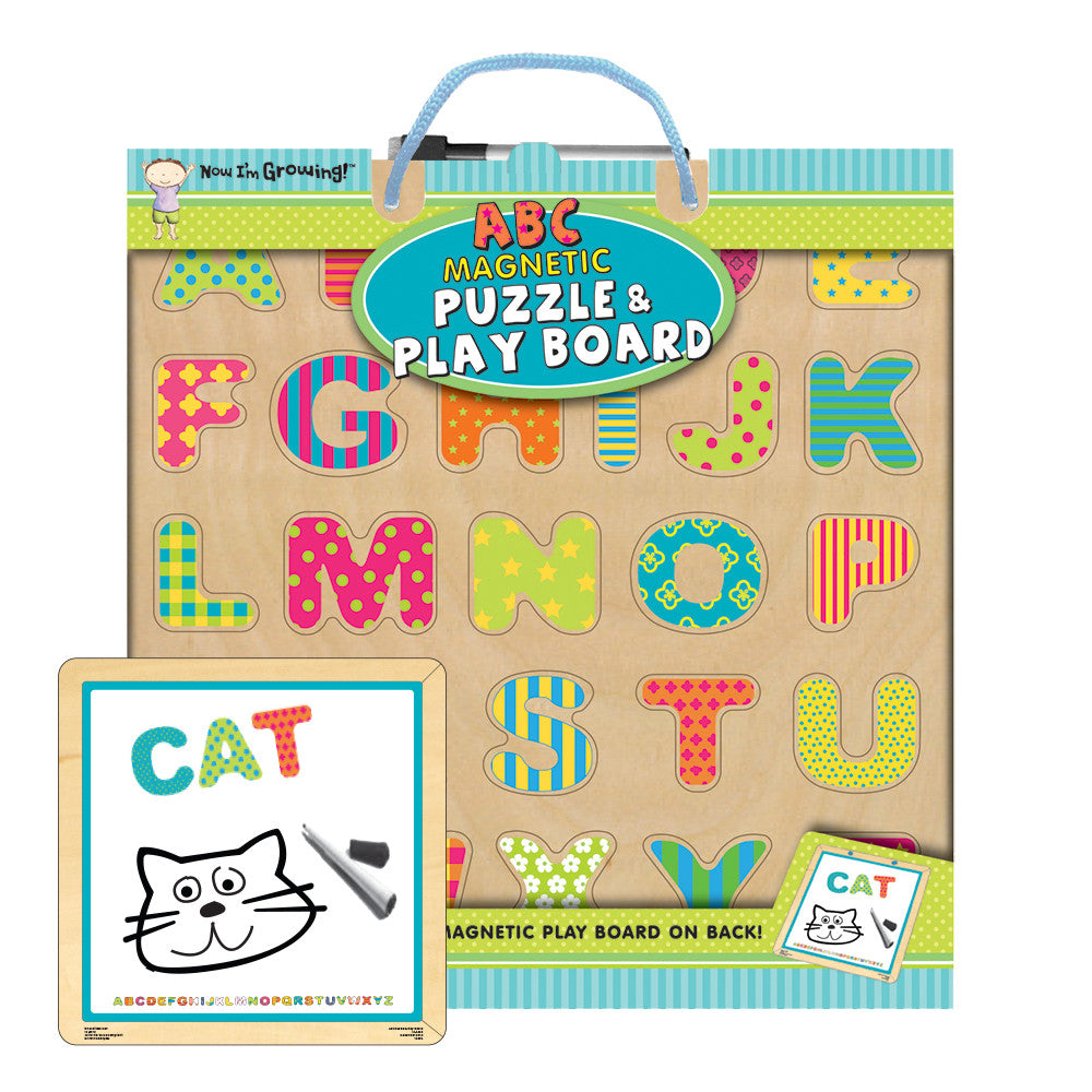 ABC Magnetic Puzzle and Play Board