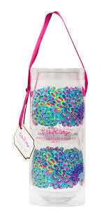 Lilly Pulitzer Stemless Wine Glasses - Blue