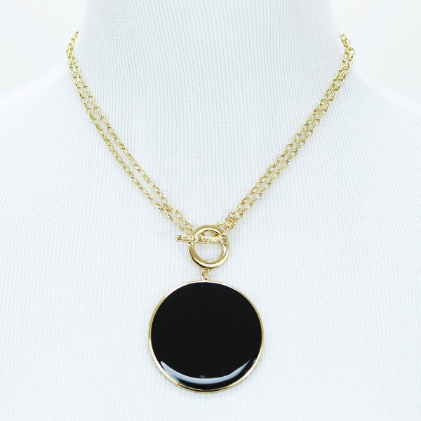 Enamel Toggle Necklace