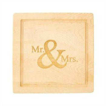 Mr. & Mrs. Square Cutting Board