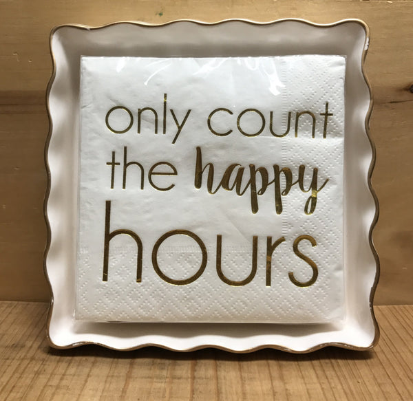 Happy Hours Napkins and Holder