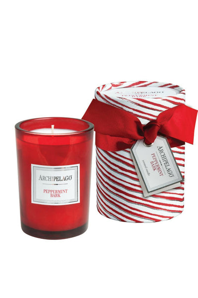 Peppermint Bark Boxed Round Candle