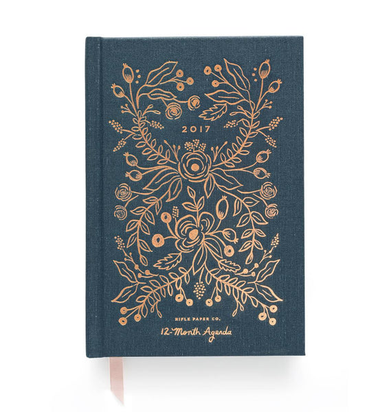 12-Month Agenda with Cloth Cover