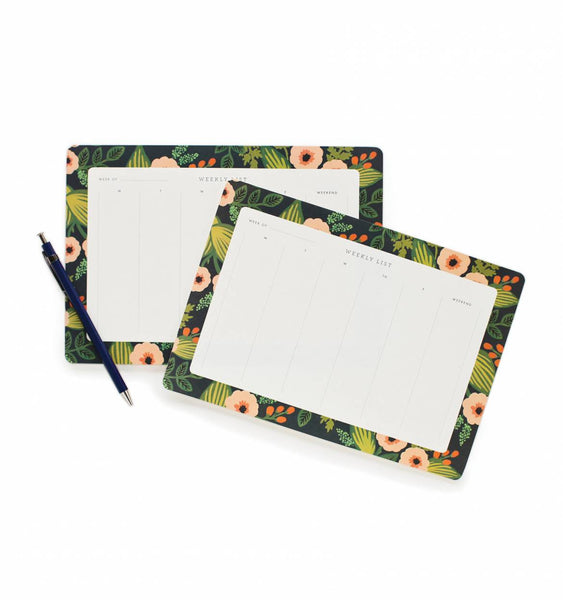 Jardin Weekly Desk Pad