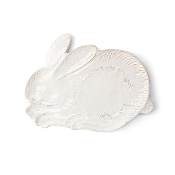 Bellezza Spring White Bunny Salad Plate