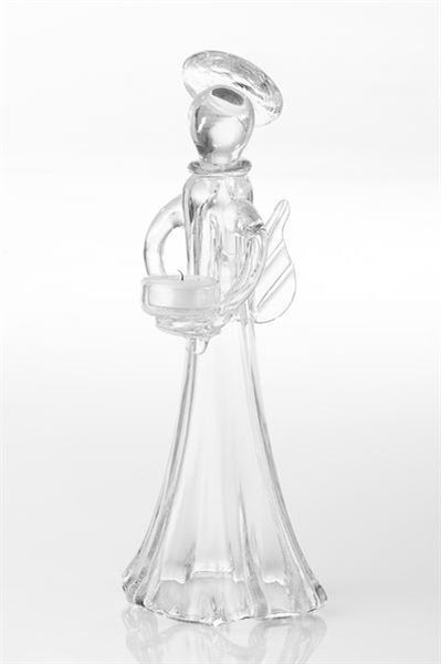 Angel Votive Holder - Clear and Red
