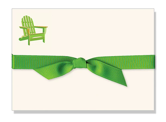 Adirondack Chair Flat Correspondence Cards