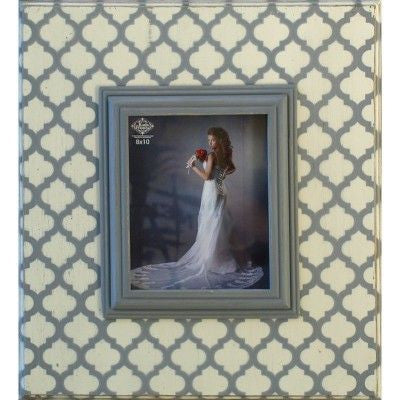 Dark Gray/White Lattice Stencil Frame