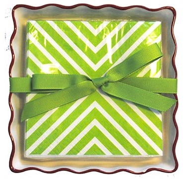 Holiday Napkins and Holder
