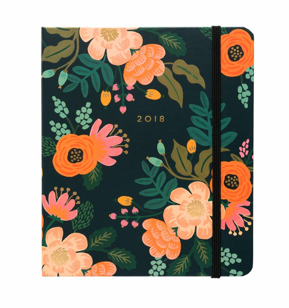 2018 Lively Floral Covered Spiral Planner