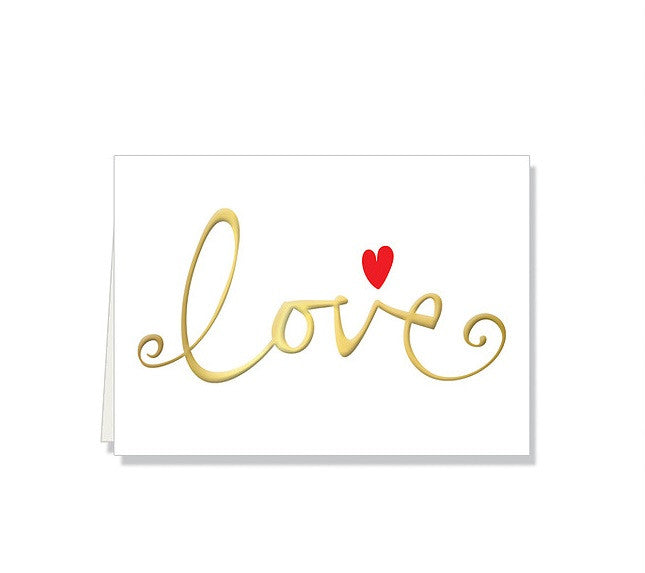 Love Single Note Card