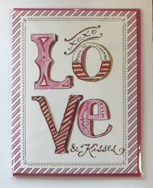 """Love & Kisses"" Single Card"