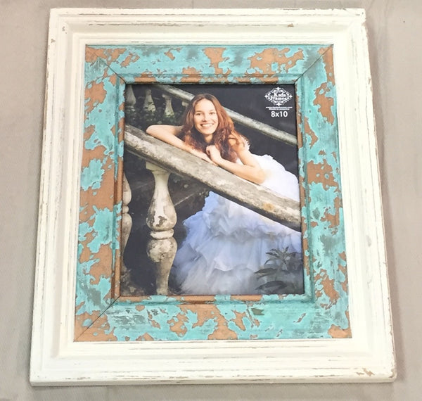 White and Patina Layered Frame