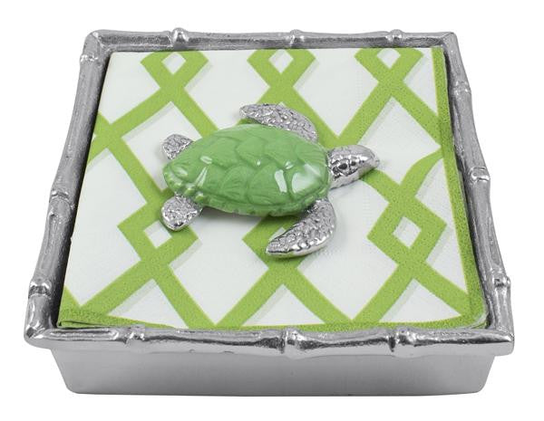 Green Sea Turtle Bamboo Napkin Box